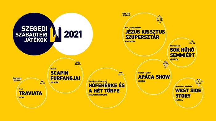 A jövőre 90 éves Szegedi Szabadtéri 2021. évi műsora
