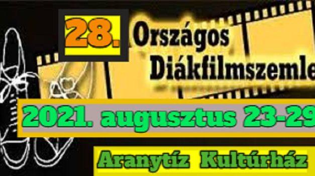 28. Országos Diákfilmszemle – Újra filmre fel!