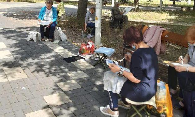 Városjáró örömfestő túra Kecskeméten