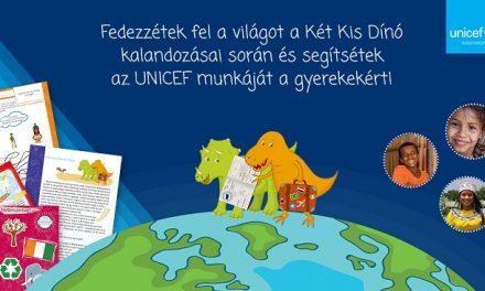 Az UNICEF Magyarország Berg Judit két kis dínójával kampányol