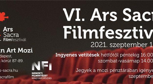 Ars Sacra Filmfesztivál idén hatodik alkalommal