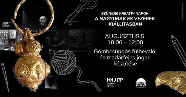 Augusztusban is kreatív foglalkozások a Cifrapalotában!