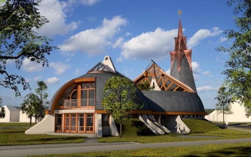 Makovecz Imre: Összetartozás temploma – Összekötni az eget és a földet