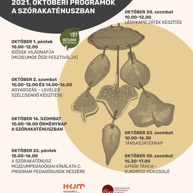 Októberi programok a Szórakaténuszban